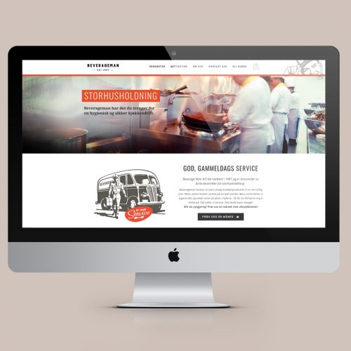 Nettside med webshop for Beverageman