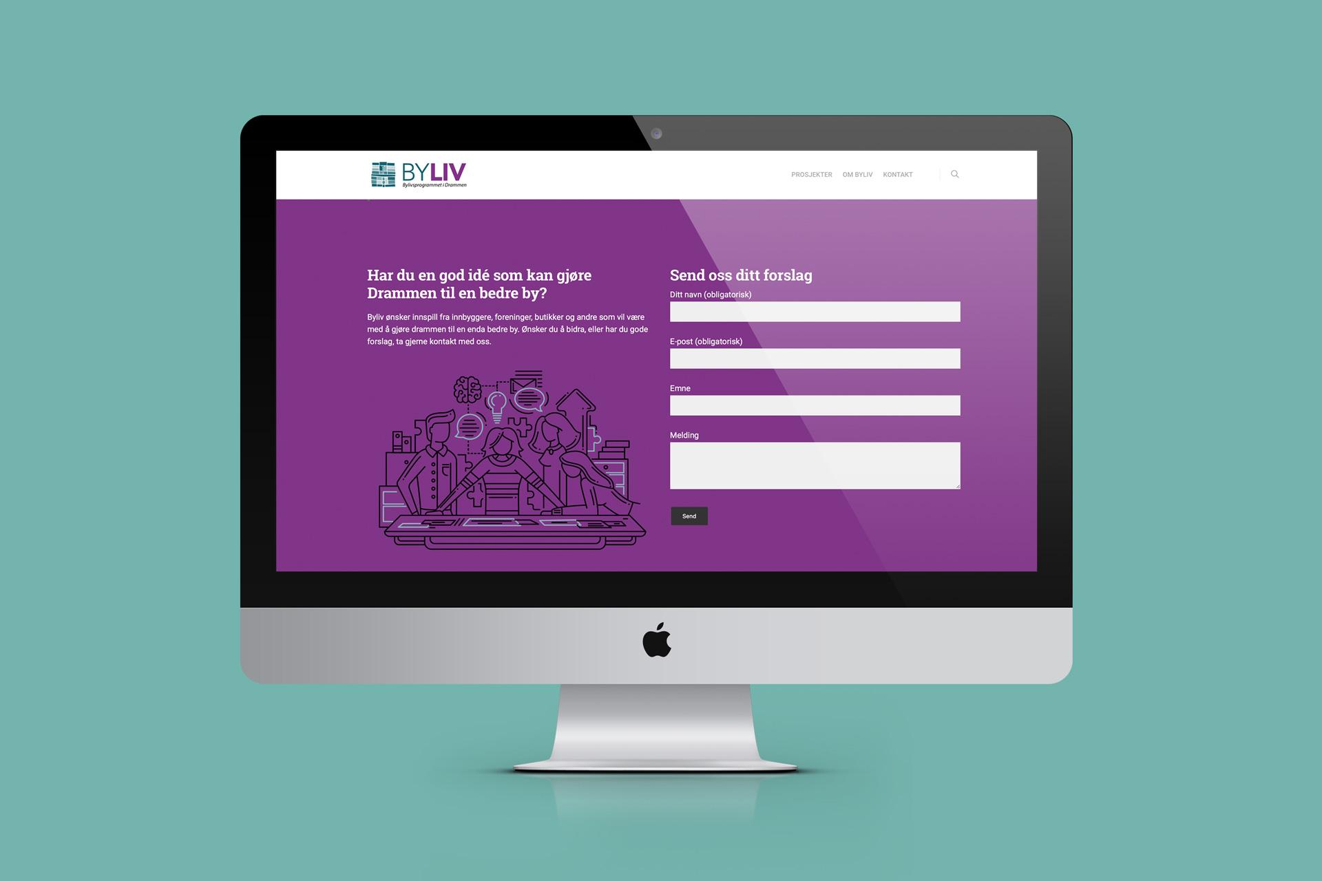Nettside for Byliv Drammen