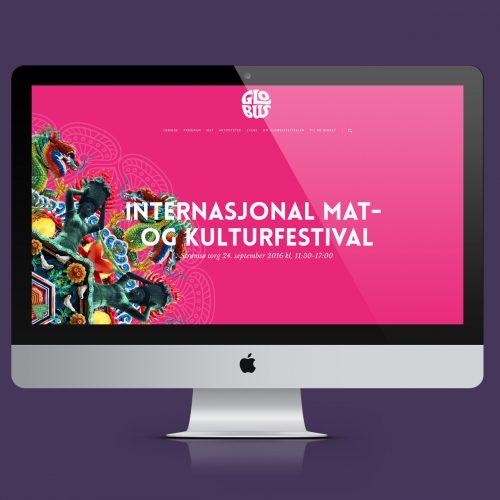 Nettside for Globus internasjonal mat og kulturfestival
