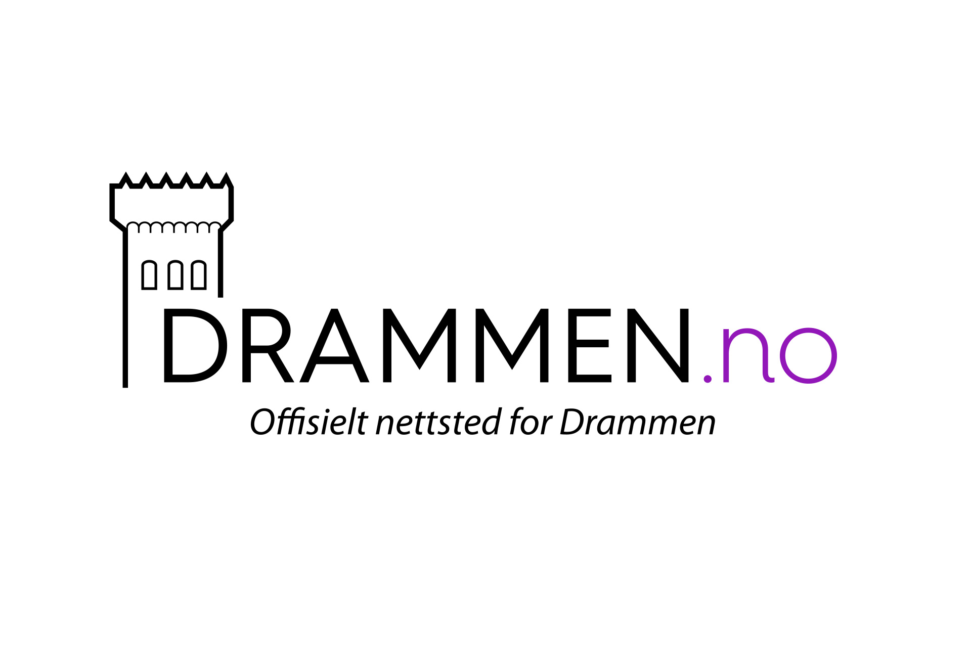 Design av logo for Drammen.no