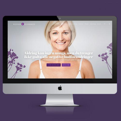 WooCommerce nettbutikk for hudpleieklinikk