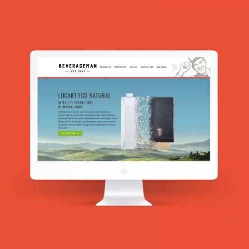 Nettside og markedsføring for Beverageman