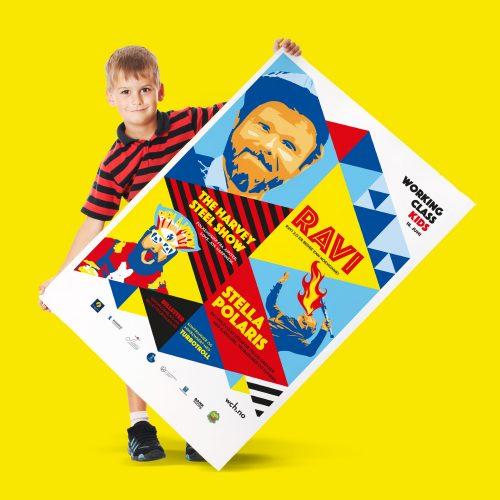 Grafisk design av plakat for Working Class Kids
