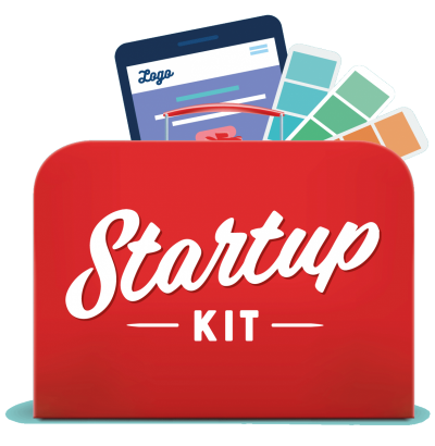 Startupkit Kit, logo, nettside og profilelementer